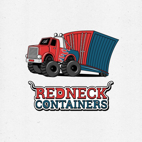 Logo for a shipping container company