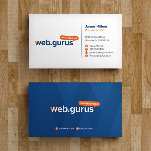 Create a business card design for digital marketing company