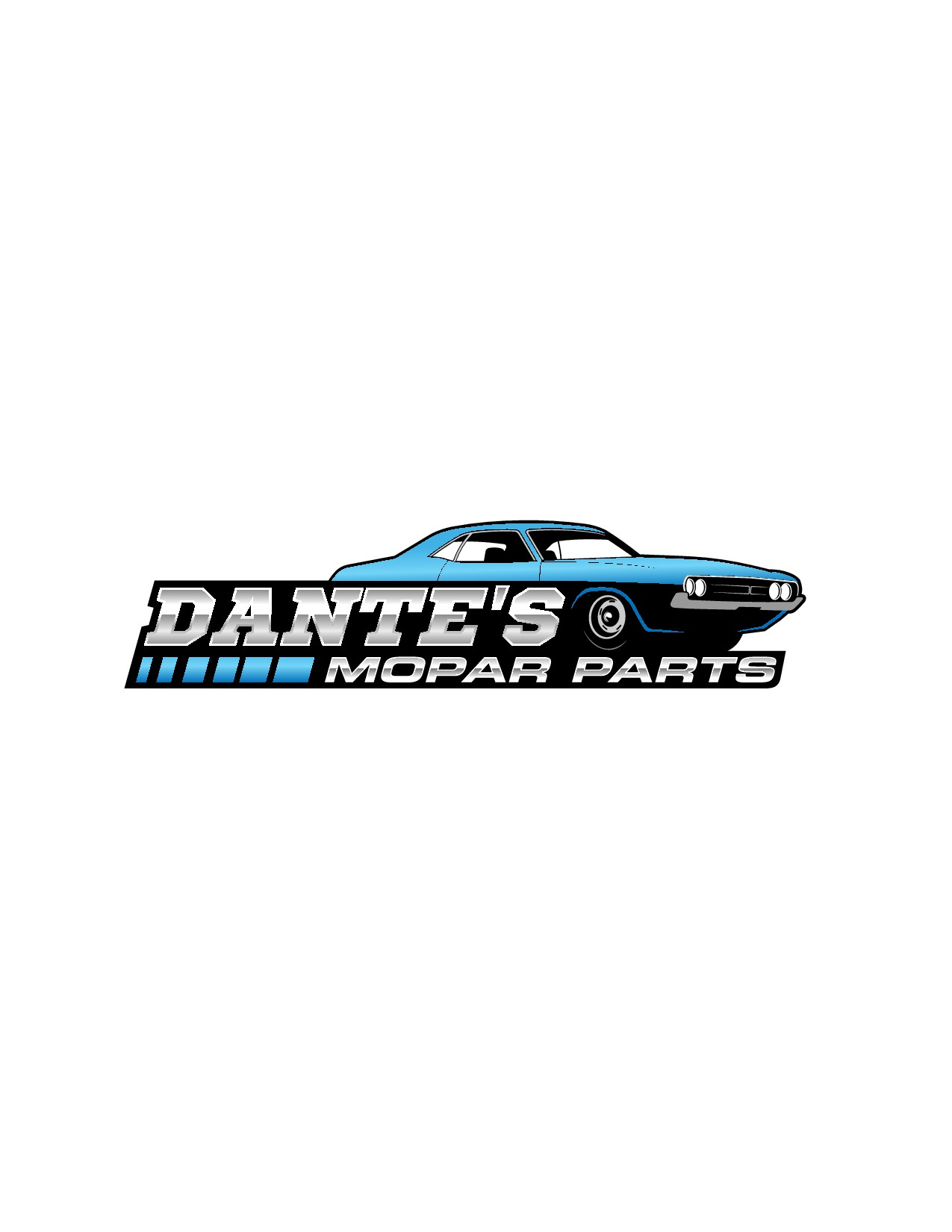 Create a sleek new logo for Dante's Mopar Parts!