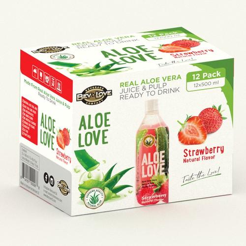Aloe vera strawberry dink