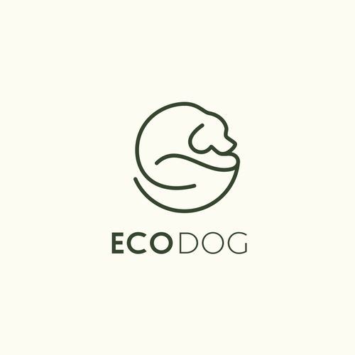 create a clear, simple, sympathic, original logo for ecological treated and produced artikels for dogs