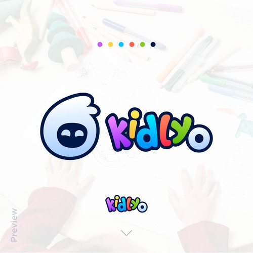 Fun and Bubbly logo for a kid's brand