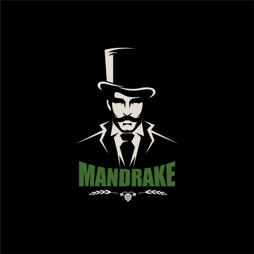 'Gangster o. NY' themed Brewery Logo for Mandrake Brewery