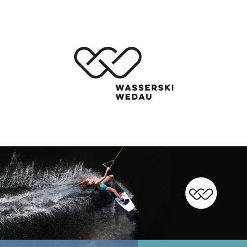 Modern logo for a wakeboard park