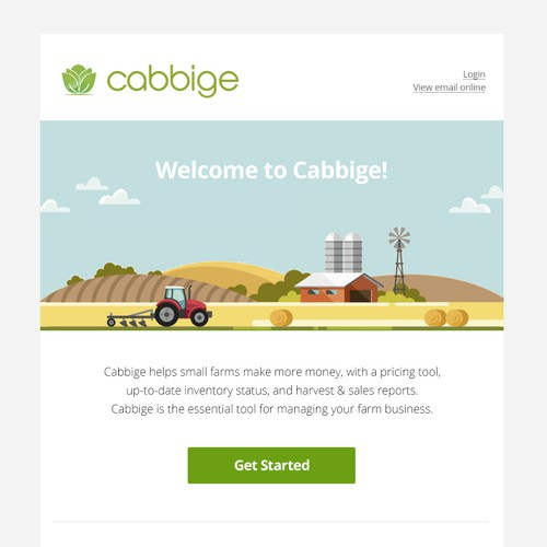 Email Template for Cabbige