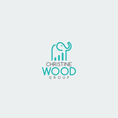 Logo concept for Christine Wood.