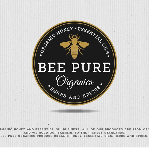 Elegant logo for premium organic honey...