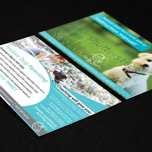 Gentle Touch Postcard Design