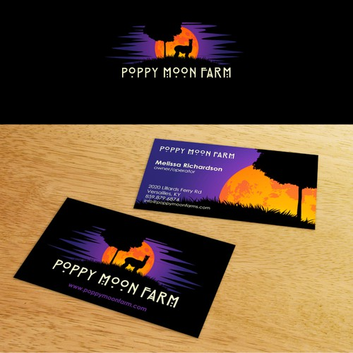 Logo and Business Card Design for Poppy Moon Farm
