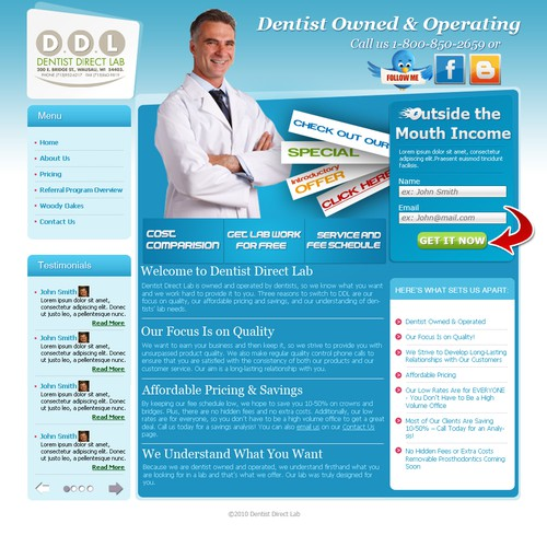 Redesign Dental Lab Website