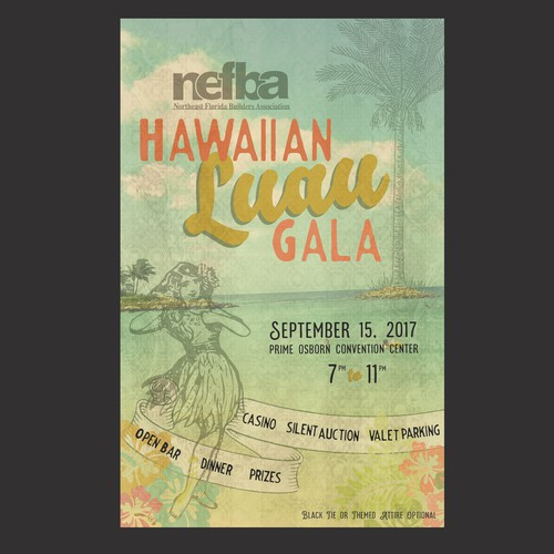 Hawaiian Gala Invitation