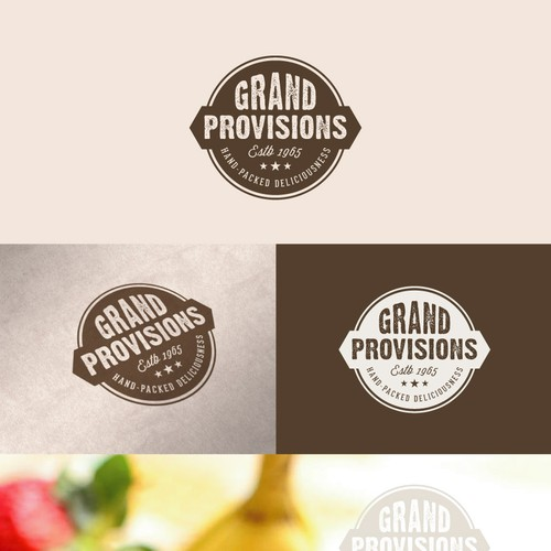 Create a fresh logo for an artisan, hand-packed food company.