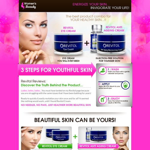 Landing Page - Beauty Product