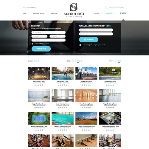 Sporthost Web Design