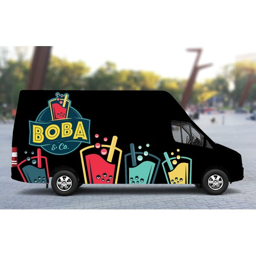 Vehicle Wrap for Boba & Co. Food Truck
