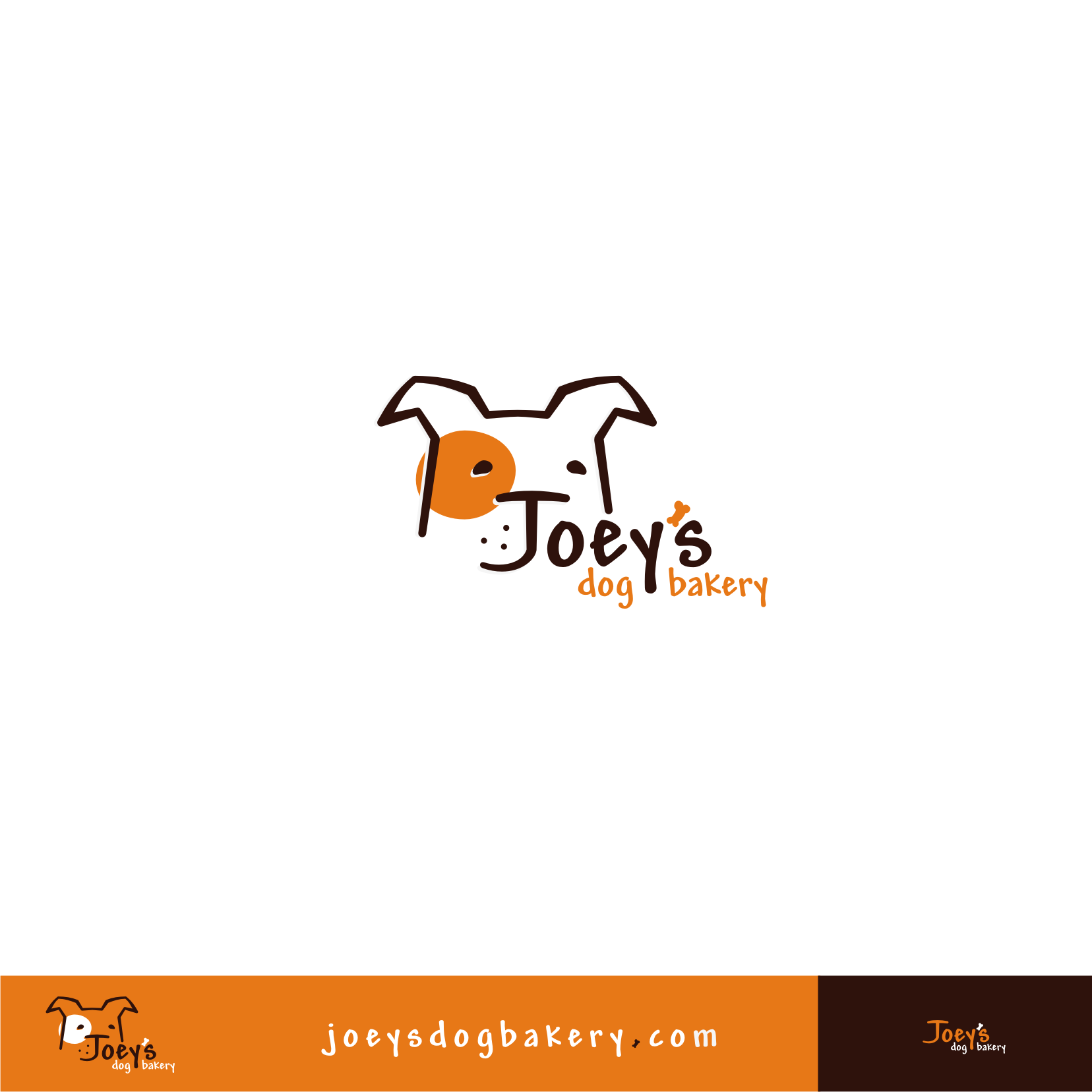 Create the next logo for Joey's Dog Bakery