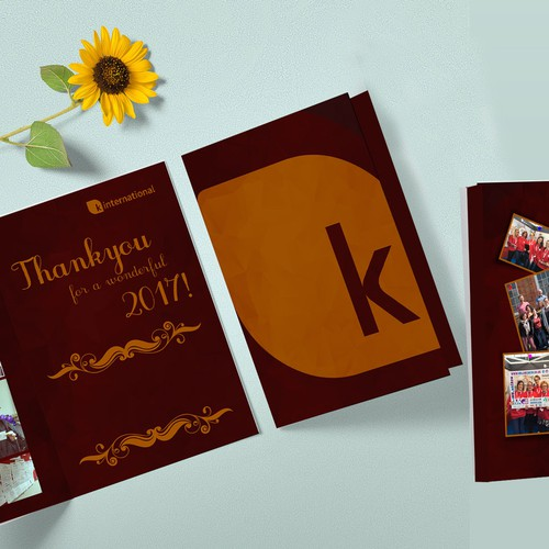 Thank you Card For K international.