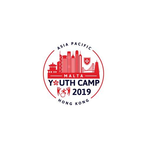 Logo Design Concept for Asia Pacific Malta Youth Camp Hong Kong 2019