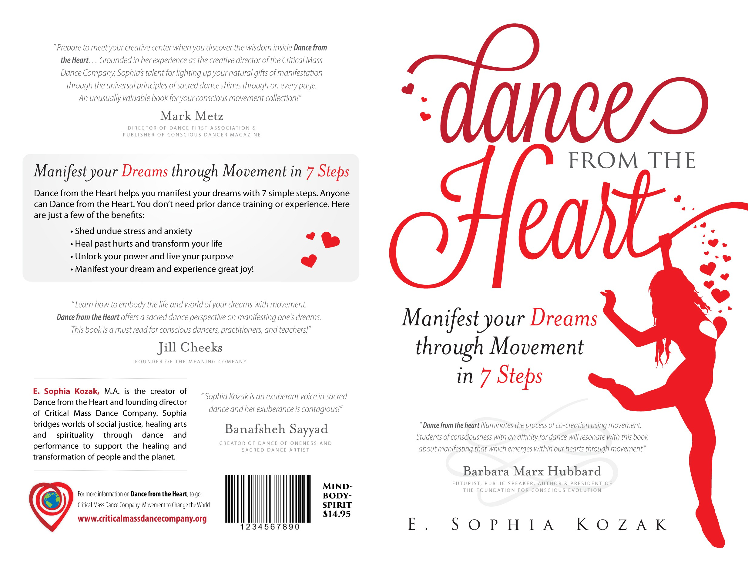 Design a inspired cover for book about a healing dance practice!