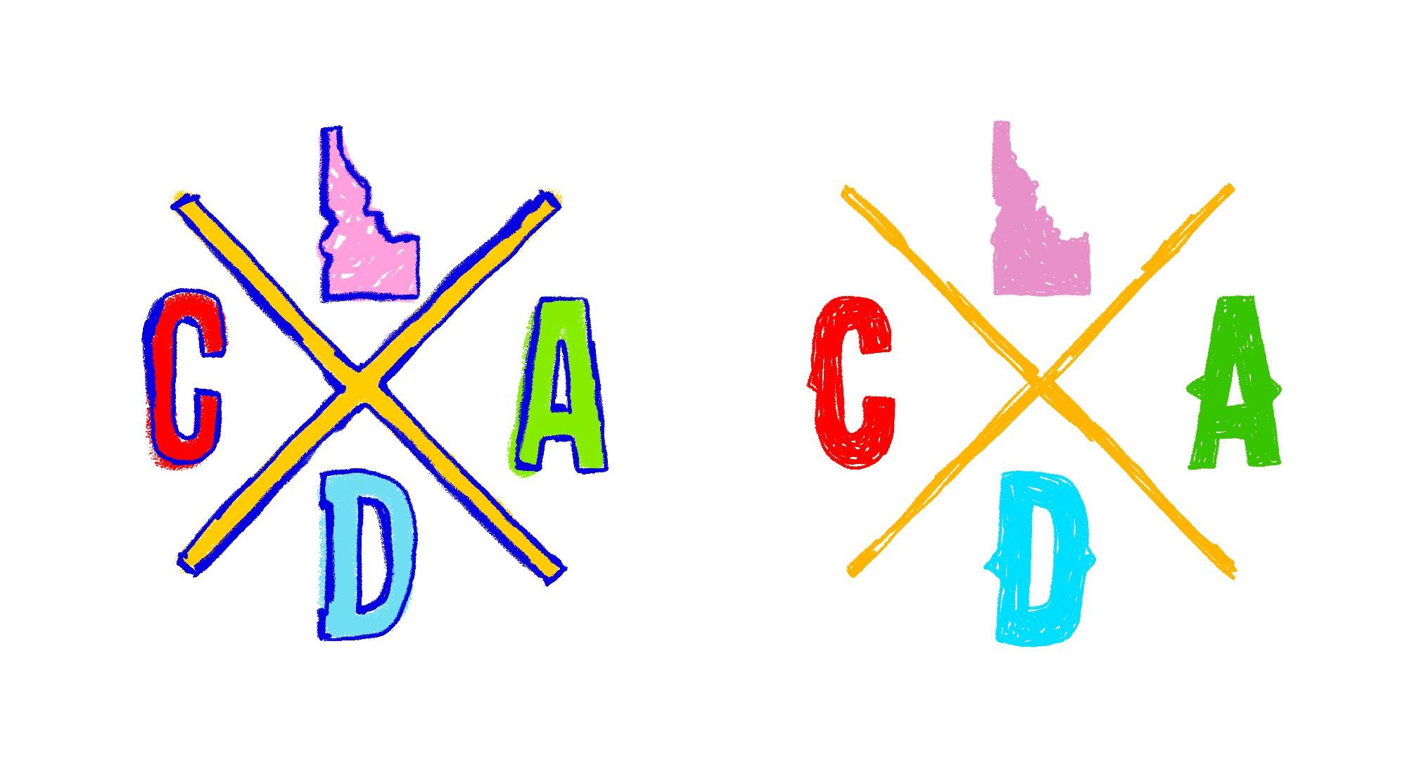 Crayon / Kids version of our CDA IDAHO Logo
