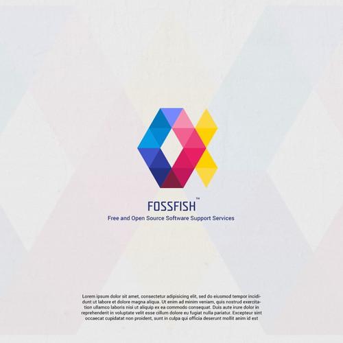 FossFish Logo Light