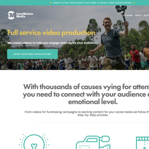 InterMotion Media Website Design
