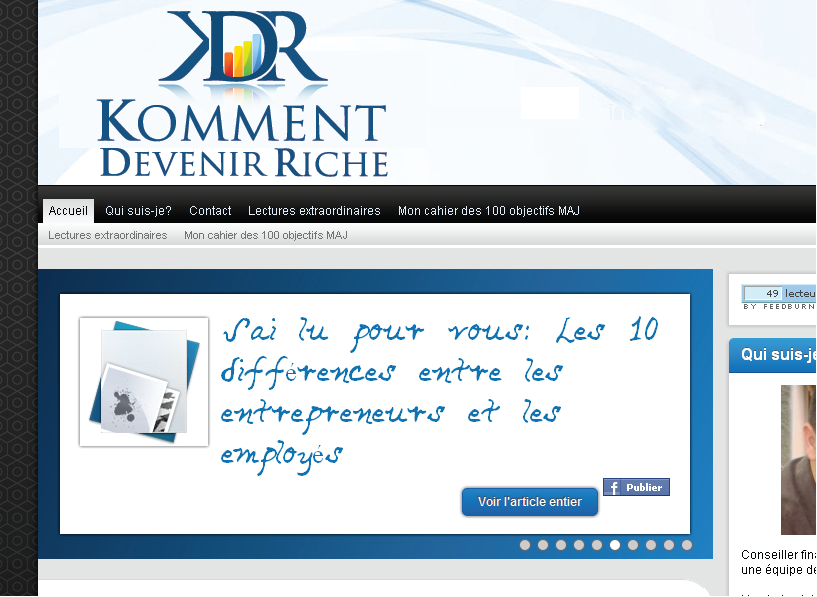 Help Komment devenir riche with a new logo