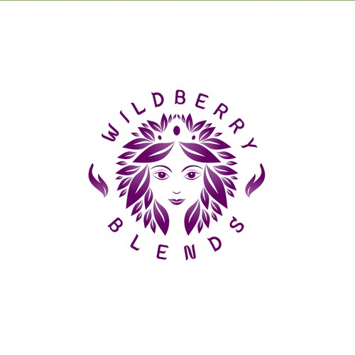 Logo concept for a goddess to serve ambrosia for Wildberry Blends