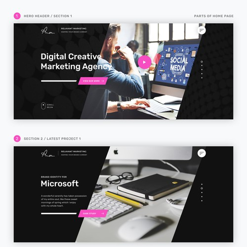 Homepage Design for a Webdesign Agency