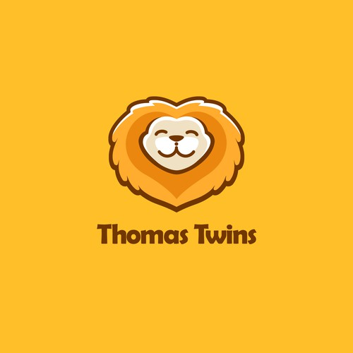 adorable logo concept for twin baby