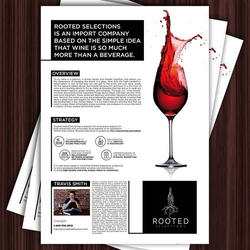 Graphic Design for Wine Company
