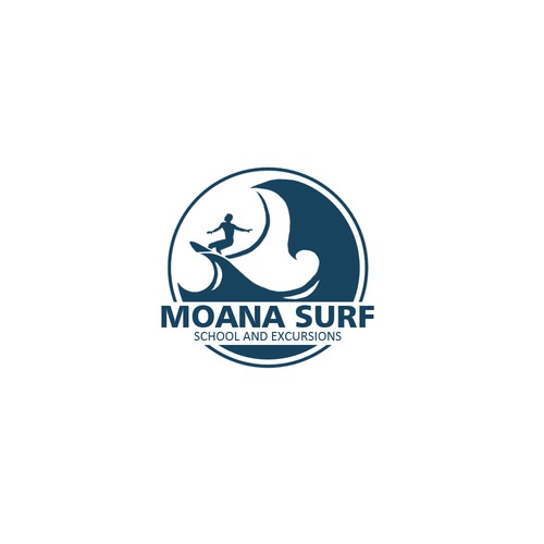 logo concept for moana surf