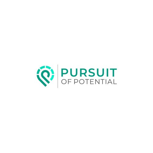 Modern letter P initials Logo for Pursuit Of Potential
