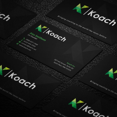 Dark Black Sleek Business Card