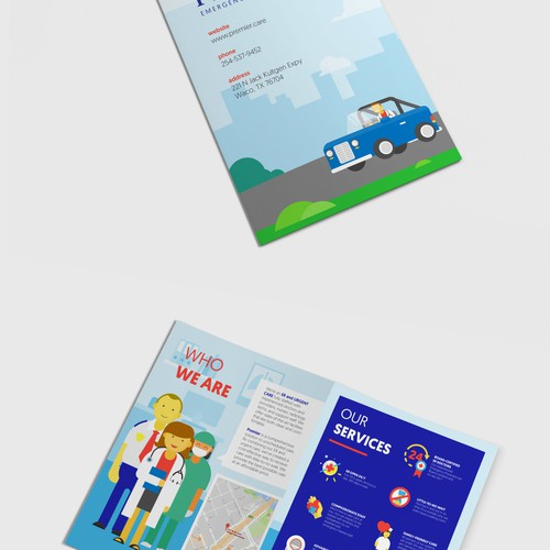 illustrative bifold brochure for PREMIER ER