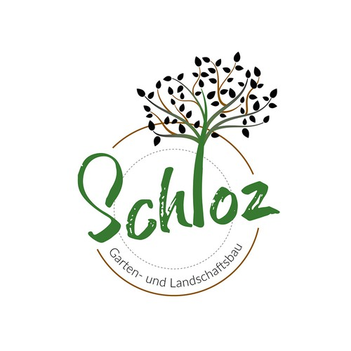 Logo concept for garden and landscape construction