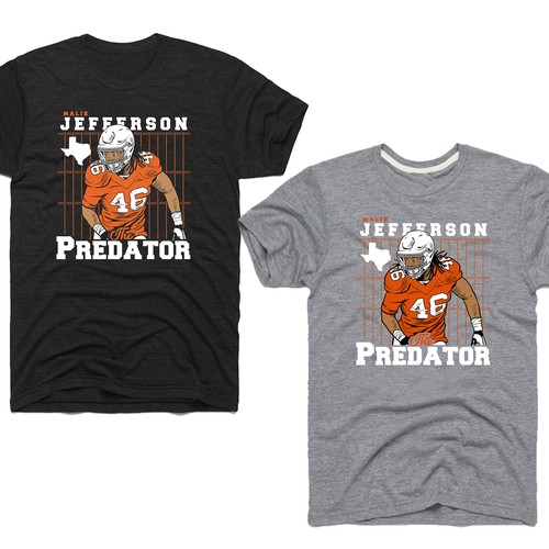 "ootball Inspired T-shirt Design for ""The Predator"""