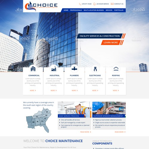 Choice Facility Services & Construction Website
