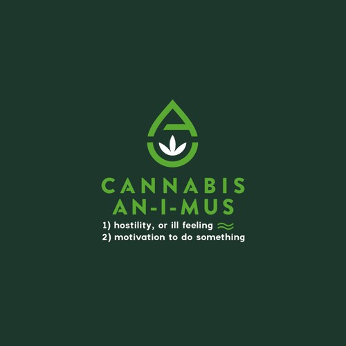 Modern minimalist logo for CBD an authority website providing information in the form of articles and CBD (cannabidiol) product reviews