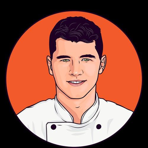 Chef Portrait Vector Design