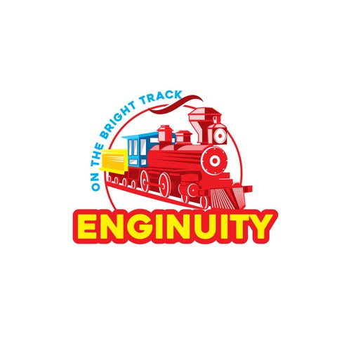 Logo For a Train themed  outdoor camping company.