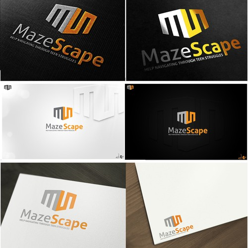 Troubled teens need you. Logo creation for Mazescape Non-Profit