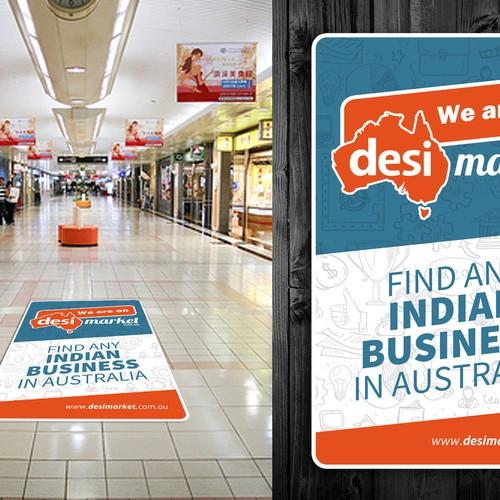 sticker Desi Market