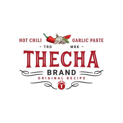 Logo concept for chili paste