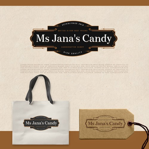 logo for ms. jana's candy