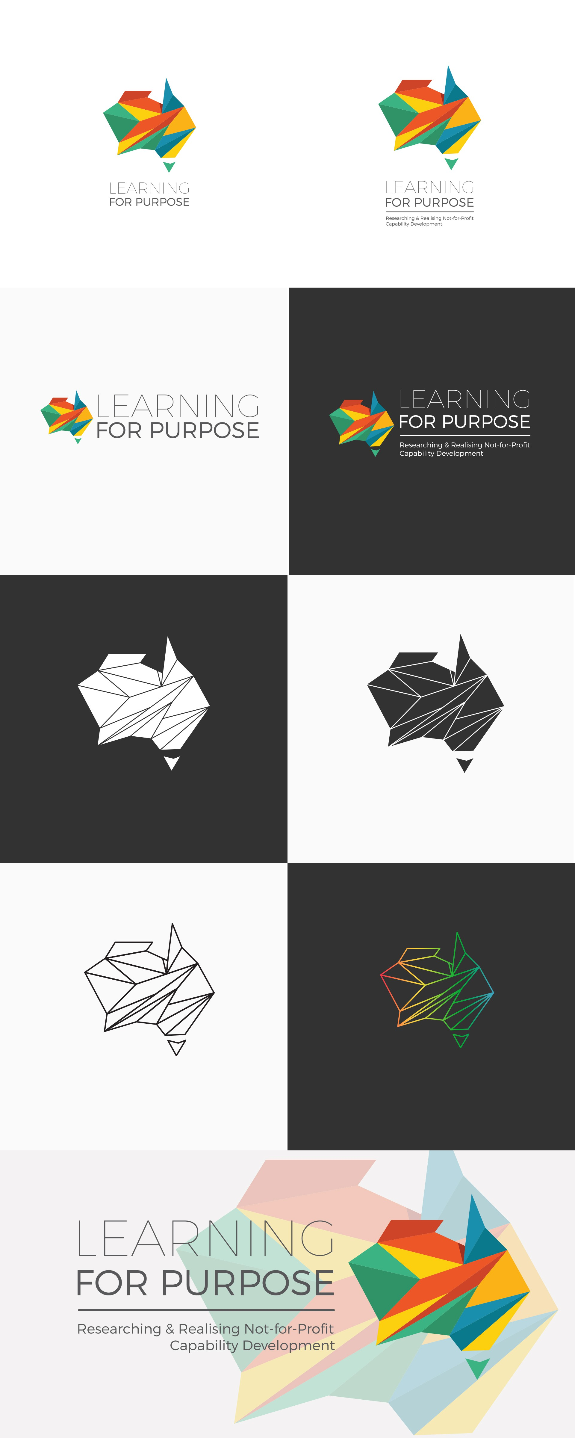 """Create Non-profit Research Initiative Logo & Social Media Package for """"Learning for Purpose"""""""