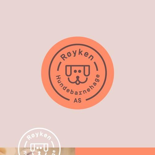 Logo for dog kindergarten.