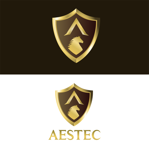 Golden 3D shield Concept for AESTEC