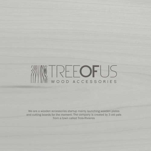 Simple logo concept for Tree of Use, wood accessories startup