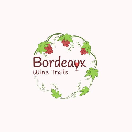Logo design for Bordeaux Wine Trails